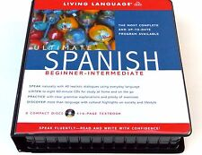 NEW Ultimate SPANISH beginner intermediate (CD Pkg) Living Language Course Ser.