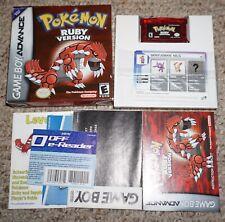 Pokemon Ruby (Nintendo Game Boy Advance GBA) Complete w/ E-Reader Card NEAR MINT