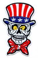 Totenkopf Aufnäher Skull Fahne USA Patch Biker Death