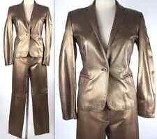 sz 4 Ralph Lauren Purple Label Collection gold leather suit pant $7600 jacket