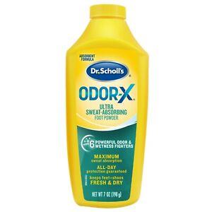 Dr. Scholl's Odor-X Ultra Sweat Absorbing Foot Powder 7 oz