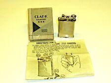 CLARK LIFTARM POCKET PETROL LIGHTER - FEUERZEUG - OVP - 1930 - U.S.A. - NICE