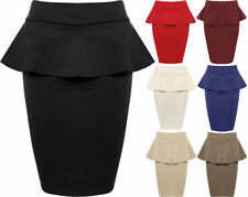 Viscose Machine Washable Mini Solid Skirts for Women