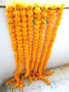 Wholesale Lot 200 Pc Mango Artificial Marigold Flower decor Garland Indien Event