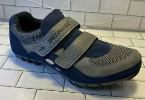 Specialized 610-01145 Men US 11.5 EUR 45 Blue Gray Suede Cycling Shoes Bike bolt