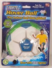 NIP WHAM-O LED Lighted Hover Ball green hovering/gliding soccer ball light up