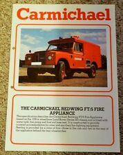 Carmichael Land Rover Series III 3 109 in Redwing FT/5 Fire Engine App Brochure
