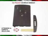 GUSCIO CHIAVE 4 TASTI RENAULT MEGANE CLIO CAPTUR LAGUNA SMART CARD RICAMBIO