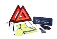 Nuevo Kit de accesorios de emergencia ruptura Genuine VW-Triángulo De Advertencia Chaleco Guantes