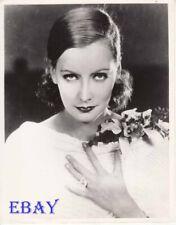 Greta Garbo w/flowers on her shoulder RARE Photo