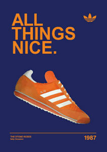All Things Nice 1987 ADIDAS CASUAL TRAINERS Print Poster Wall Art Picture A4 +