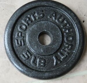 Sports Authority 5 Lb Weight Plate- Barbell Weight