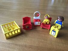 Lego Duplo sets 2614 mother and baby with pram & 2615 Nursery vintage