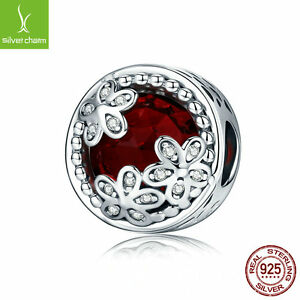925 sterling silver charm with Dazzling Daisy Red Meadow Openwork Charms Jewelry