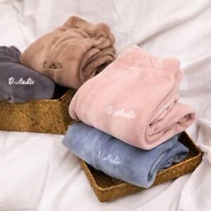 Plus  Size PJ Trousers Fluffy  Long Pants Ladies Womens Fleece Winter Warm