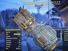 Fallout 76 - PS4 - Gatling Plasma - J/E/PER - 3 🌟🌟🌟 - Max Level 🔥🔥🔥