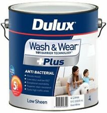 DULUX 4 LITRE INTERIOR WASH/WEAR ANTI-BACTERI LOW/SHEEN VIVID-WHITE COLOUR PAINT