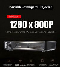 True 8000 Lumens Projector 10000:1 HD 1080P DLP 3D Wifi Home Theater Cinema HDMI