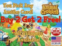 Animal Crossing New Horizons Amiibo Cards NFC - Pick Any Villager You Want!