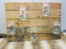RUSTIC RECLAIMED REPURPOSED RAW PALLET WOOD WITH 5 SMALL BALL MASON JARS SIGN