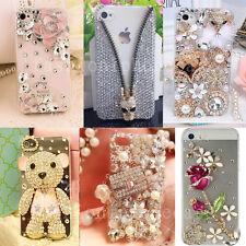Girl's Handmade Bling Diamond Crystal Rhinestone Jewelled Clear Phone Case Cover