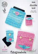 King cole 9040 crocheted téléphone/tablette & gadget cas original crochet pattern