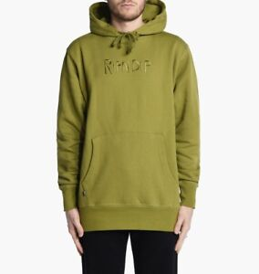 RIPNDIP Logo Embroidered Pull Over Hoodie hoody NEW men RND2012-OLV olive