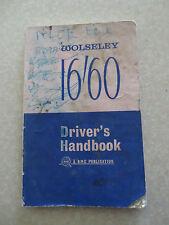 Original 1960s Wolseley 16/60 automobile owner's manual