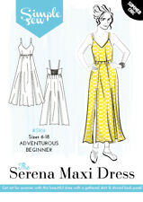 Womens ADVENTUROUS BEGINNER The Serena Maxi Dress UK SIZES 8-20  Sewing Pattern