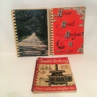 Vintage Spiral Bound Paperback Cookbooks From ***MAINE FLORIDA & LOUISIANA ***