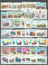 Cars and Transport 8 complete sets (49 stamps) all MNH