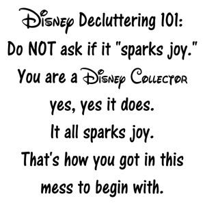 """Disney Decluttering 101 WALL ART VINYL DECAL STICKER 12""""x12"""""""