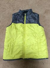 CALVIN KLEIN Yellow and gray QUILTED FULL ZIP PUFFER VEST YOUTH SIZE 6