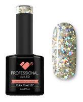 137 VB™ Line Transparent Silver Glitter - UV/LED soak off gel nail polish