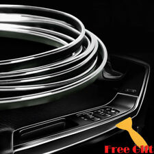 10M DIY Silver Car Interior Molding Edge Gap Line Decor Accessory Garnish Strip