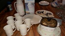 Corelle Forever Yours Pink Hearts Large Set Lot