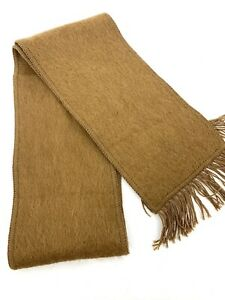 Andean Sun Alpaca Blend Classic Camel Colored Scarf Made in Peru