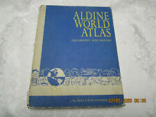 Vintage Aldine World Atlas 1961 First Edition