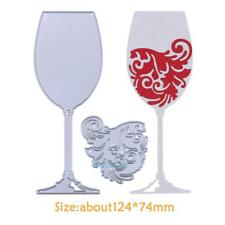 Wine Glass Metal DIY Cutting Dies Stencil Scrapbook Album Paper Card Embossing