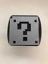 Mario Question Box in 3D - 2 inch Trailer Hitch Cover Black with Grey - 1 Up