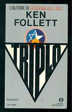FOLLETT KEN TRIPLO MONDADORI 1981 OSCAR 1438 PRIMA EDIZIONE GIALLI SPIONAGGIO
