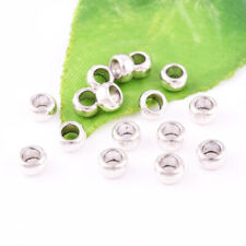 50pcs Tibetan silver Round No patter Loose Spacer Beads Jewelry Finding 5X3mm