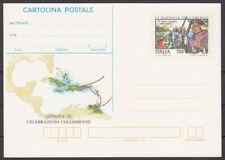 ITALIA 1992 - CARTOLINA POSTALE - Genova '92 - Colombo 3° VIAGGIO - NUOVO