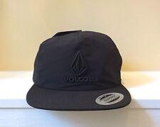 Volcom Marker Adjustable Snapback Men's Black Hat NWT