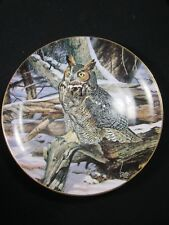 Danbury Mint - Winter Watch - The Owls Of North America - Collector Plate