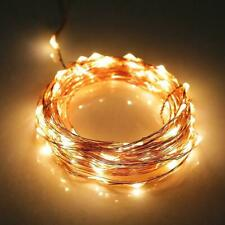 100LED Copper Wire Xmas Wedding Party String Fairy Light 10M/33FT DC 12V New NA