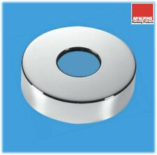 McALPINE Decorative Wall Flange Pipe Cover for 42mm Chrome Pipe Chrome on BRASS