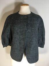 Banana Republic Womens Sz 6 Gray Tweed Wool Blend Hemp Coat Jacket
