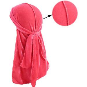 Velvet Durag Premium Men's Doo Rag Hats Silky Wave Cap Designer Style 23 COLORS