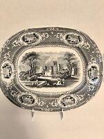 Beautiful Wedgwood & Co Corinthia Black Transferware Platter